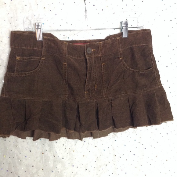 Abercrombie & Fitch Dresses & Skirts - ABERCROMBIE & FITCH Brown Corduroy Ruffle Skirt 6